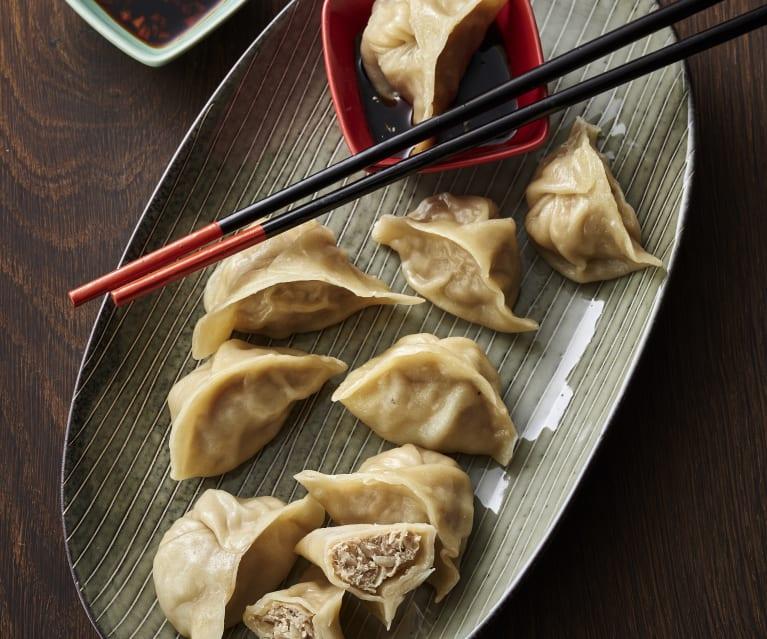 Teigtaschen und chinesische Lebensmittel