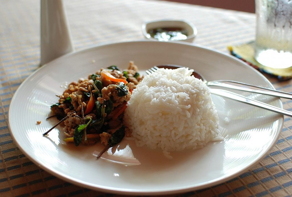 Jasmine rice dished