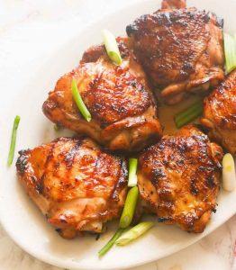 Grill chicken thighs