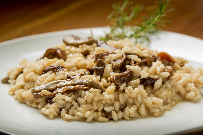 Shiitake Pilze mit Reis