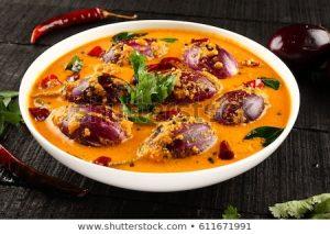 spicy mini eggplant curry