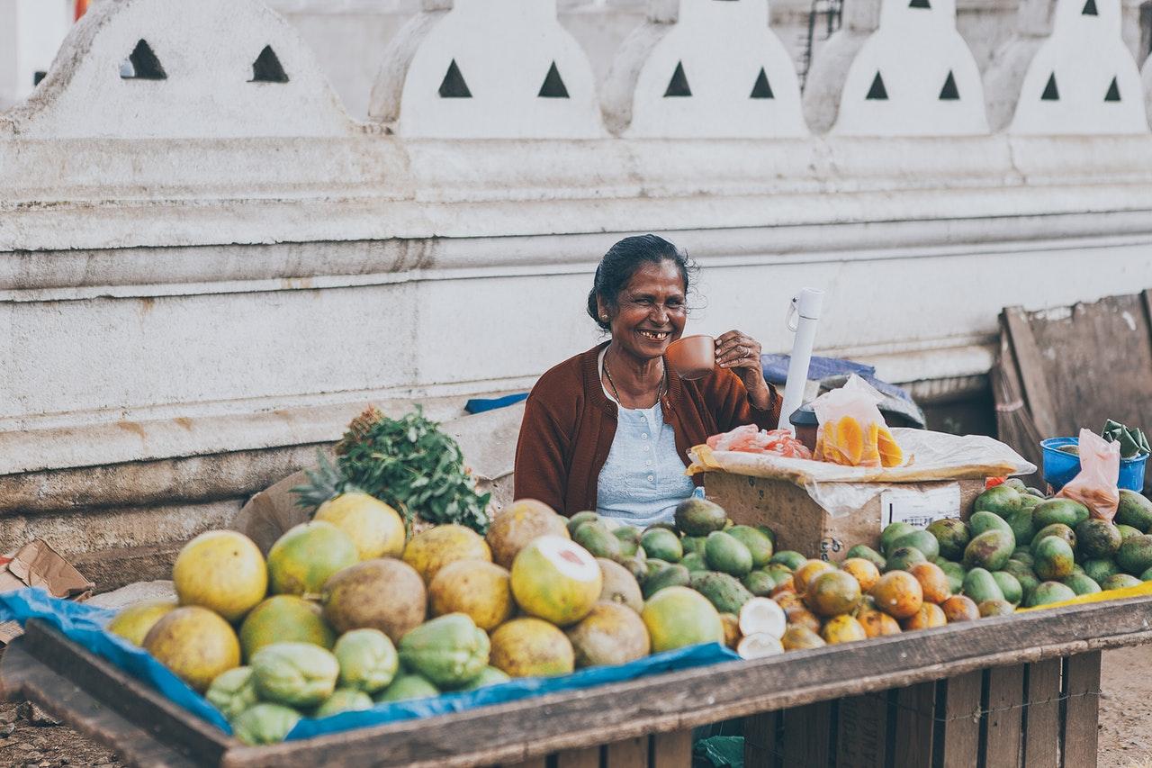 Asiatische Lebensmittel aus Sri Lanka