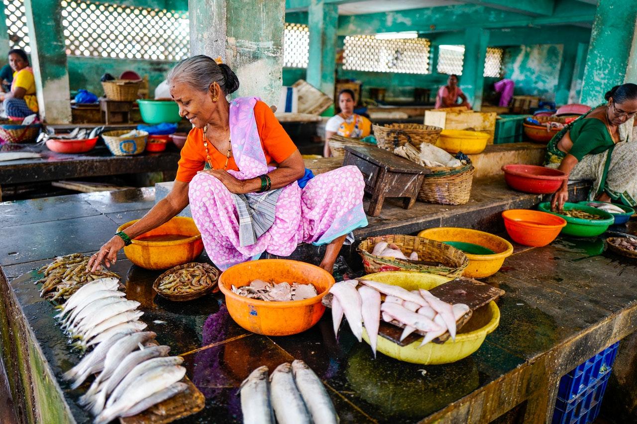 Asiatische Lebensmittel aus Indien