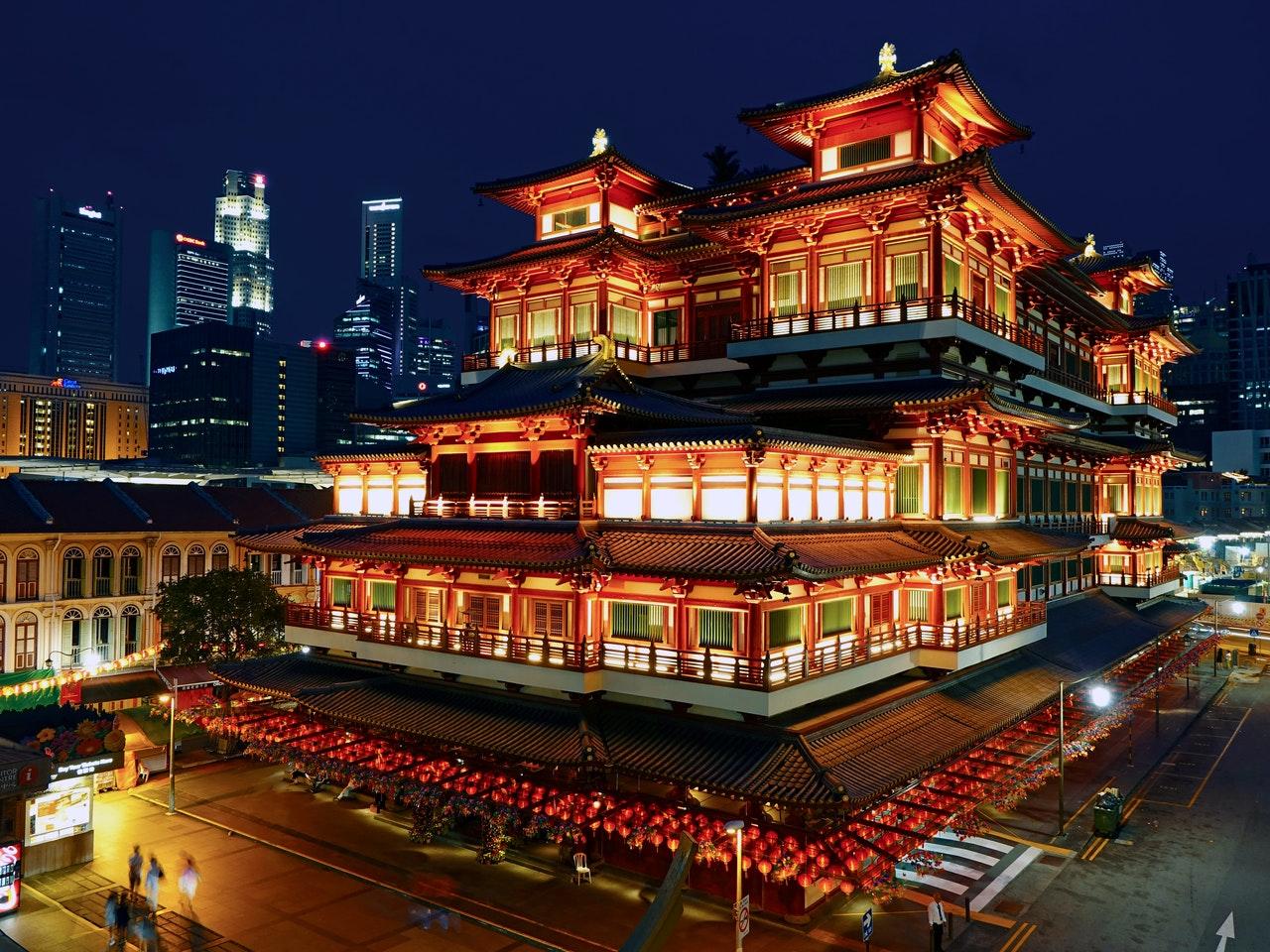 Asiatische Lebensmittel aus Singapur