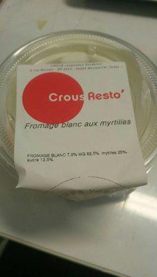 Fromage blanc aux myrtilles