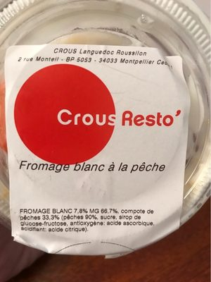 Fromage blanc pêche