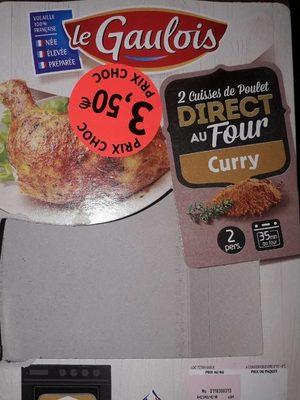 cuisse de poulet direct au four curry