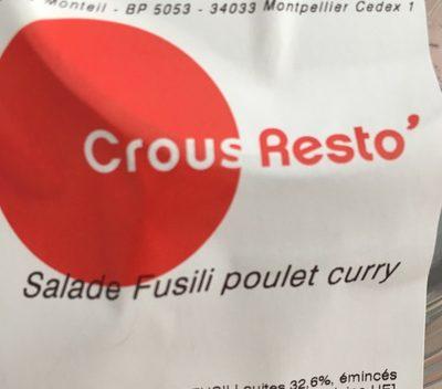 Salade fusili poulet curry