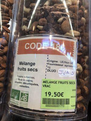 Mélange fruits secs