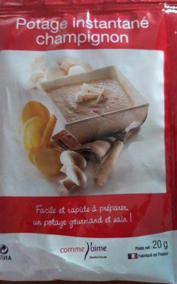 Potage instantané champignon