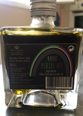Huile d'olive persil ail