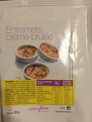 Entremets Crème Brulée