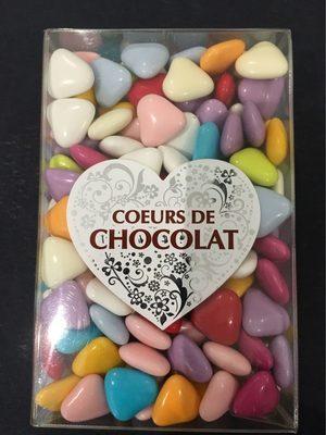 Coeurs chocolat tte couleur