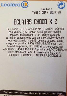 Eclairs choco X2