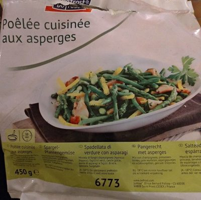 Poêlée cuisinée aux asperges