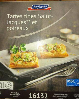 Tartes fines Saint Jacques et poireaux