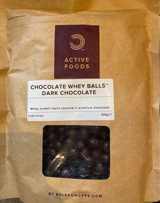 Chocolate whey balls dark chocolate
