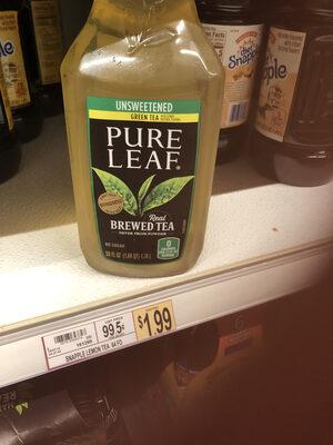 Unsweetened real green brewed tea, unsweetened