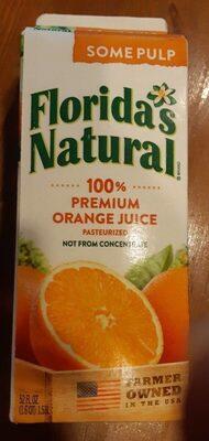 Premium orange juice, some pulp