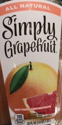 100% pure squeezed grapefruit juice, grapefruit