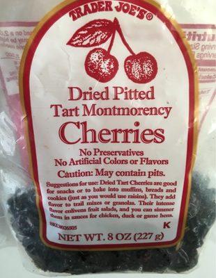 Trader joe's, dried pitted tart montmorency cherries