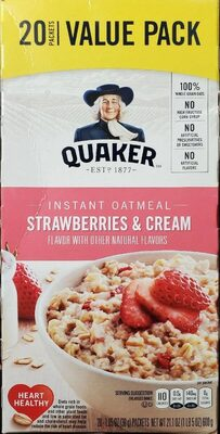 Instant Oatmeal Strawberries & Cream