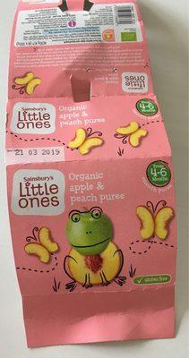 Organic apple peach piree