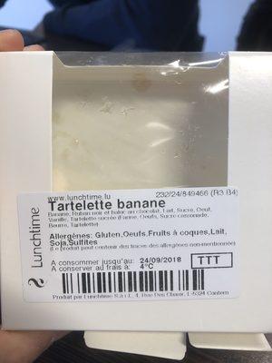 Tartelette Banane