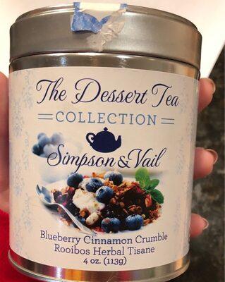 Blueberry cinnamon crumble desert tea