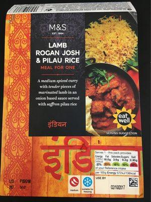 Lamb Rogan Josh & Pilau Rice