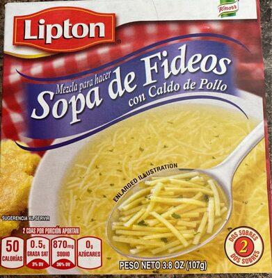 Lipton sopas de fideos