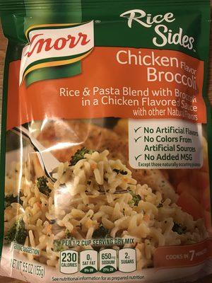 Rice sides chicken flavor broccoli