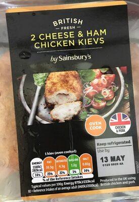 2 cheese and ham chicken kievs