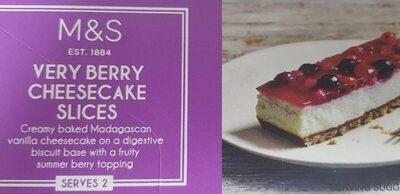 Cheesecake fruit rouge