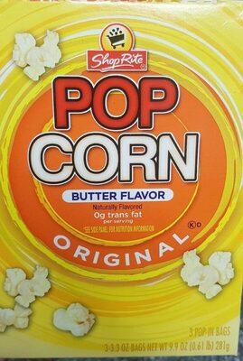 Shoprite, popcorn, butter