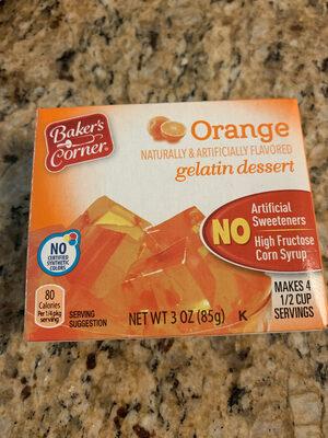 Baker's, corner, gelatin dessert, orange