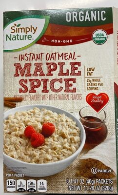 Instant Outmeal spice