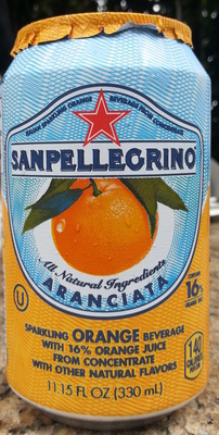 Italian sparkling orange beverage from concentrate