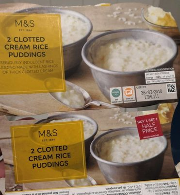 2 Clotted Cream Rice Puddings