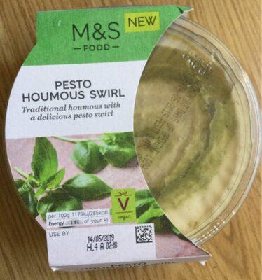 Pesto houmous swirl