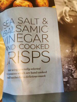Sea salt et balsamic vinegar and cooked crisps