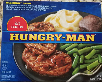 Hungry-Man Salisbury steak meal