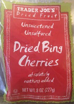 Unsweetened unsulfured dried bing cherries
