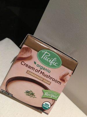 Pacific, organic cream of mushroom condensed soup