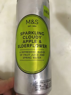 Sparkling cloudy Apple & Elderflower