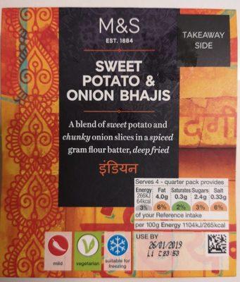 Sweet potato & onion bhajis