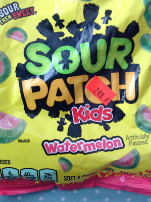 Sour patch watermelon soft candy watermelon fat free12x72 1n