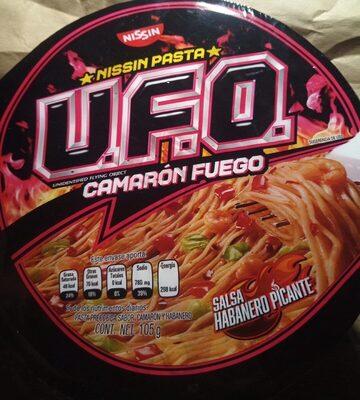 Pasta U.F.O. camarón fuego