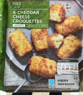 Cheddar cheese croquettes