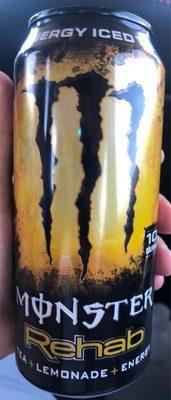 Rehab iced tea energy drink, lemonade